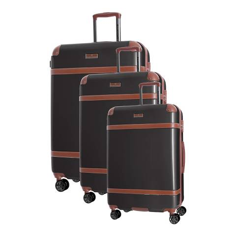 Platinium Grey Venicia Set Of 3 Suitcases