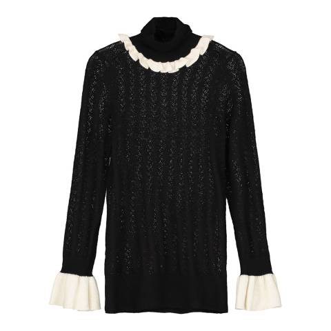 Donna Ida Roll Neck Novelty Cashmere Sweater