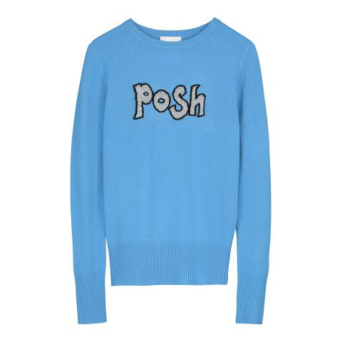 Donna Ida Crew Neck Fitted Novelty Cashmere Sweater