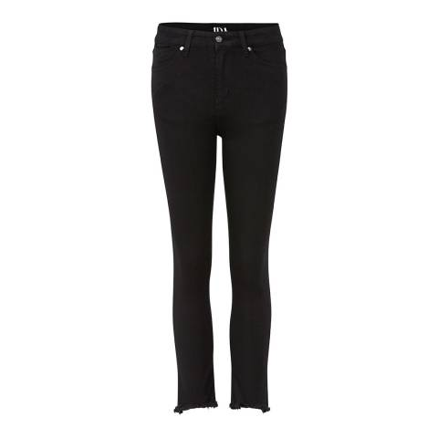 Donna Ida Black Sidney High Waisted Straight Leg Jeans