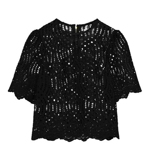 Donna Ida Short Sleeve Lace Top