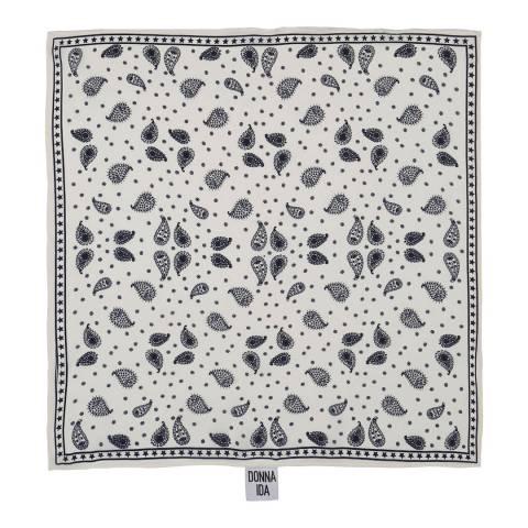 Donna Ida Printed Square Silk Scarf