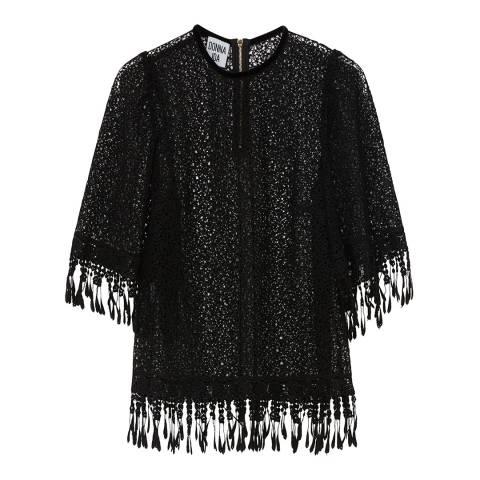 Donna Ida Short Sleeve Lace Top
