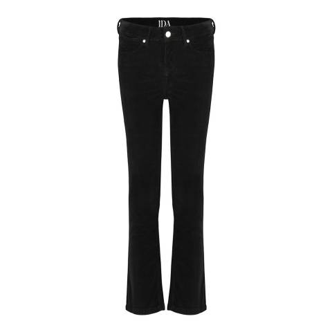 Donna Ida Black Kitty Kat High Waisted Bootcut Jeans