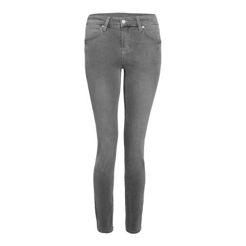 Donna Ida Grey Rizzo High Waisted Skinny Jeans
