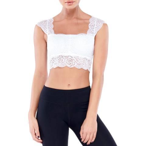 Electric Yoga White Lace Bra