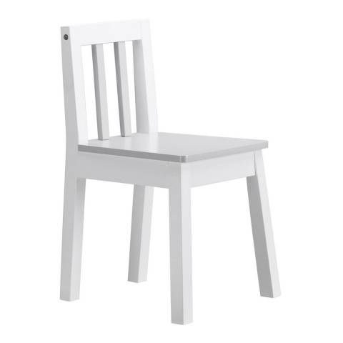 Kids Concept White Grey Line Chair