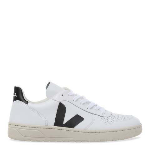 VEJA V-10 Extra White Black Leather Sneaker