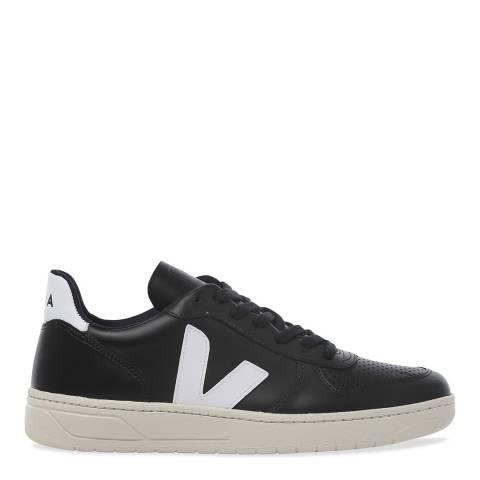 VEJA V-10 Black White Leather Sneaker