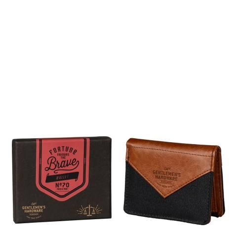 Gentlemen's Hardware Charcoal Canvas Wallet
