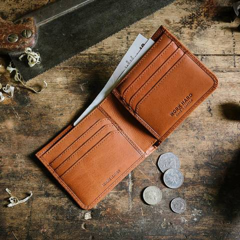 Stanley Tan Bi Fold Leather Wallet