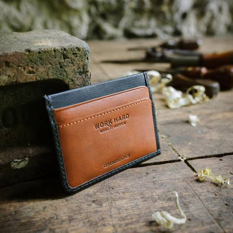 Stanley Black Card Wallet Leather