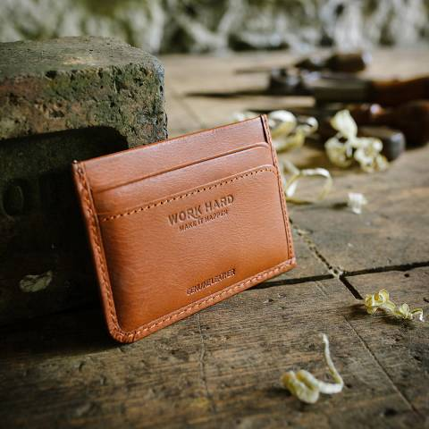 Stanley Tan Card Wallet Leather