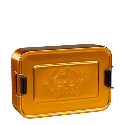 Gentlemen's Hardware Brass Aluminium Lunch Tin