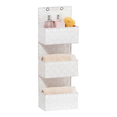 Wenko Adria 3 Tier Hanging Bathroom Organizer, White