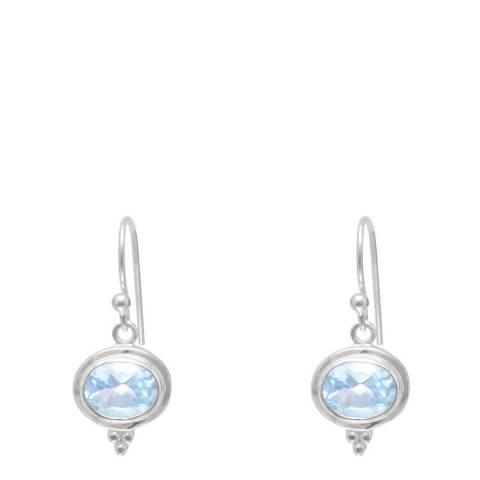 Alexa by Liv Oliver Sterling Silver / Blue Topaz Drop Earrings