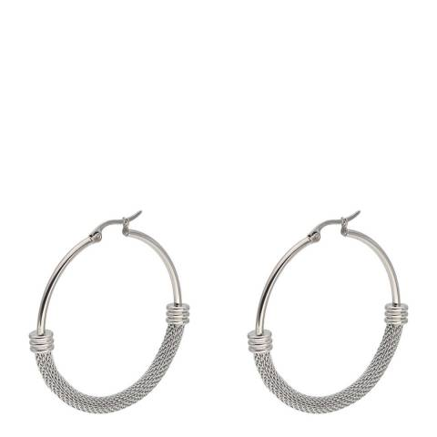 Alexa by Liv Oliver Silver Ring Hoop Earrings