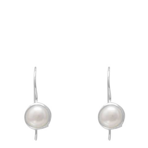 Alexa by Liv Oliver Sterling Silver Pearl Drop Earrings