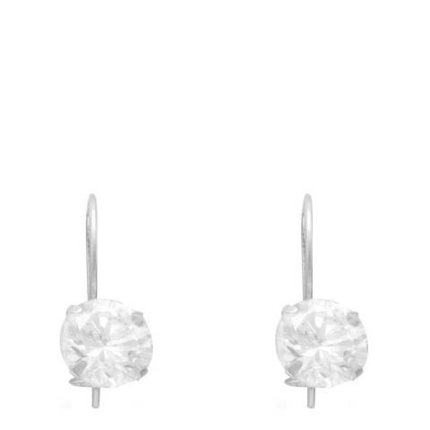 Alexa by Liv Oliver Sterling Silver Drop Solitaire Earrings