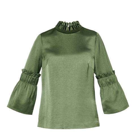 Ted Baker Khaki Myani High Neck Top