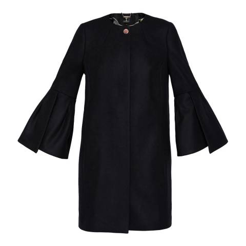 Ted Baker Black Jordane Wool/Cashmere Blend Coat