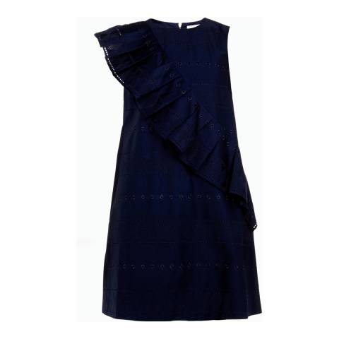Ted Baker Navy Mahlene Oversized A Line Cotton Dress