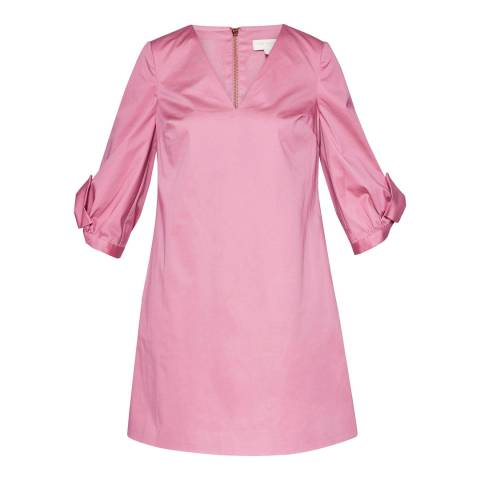 Ted Baker Dusky Pink Solyane Oversized Sleeve Tunic Dress