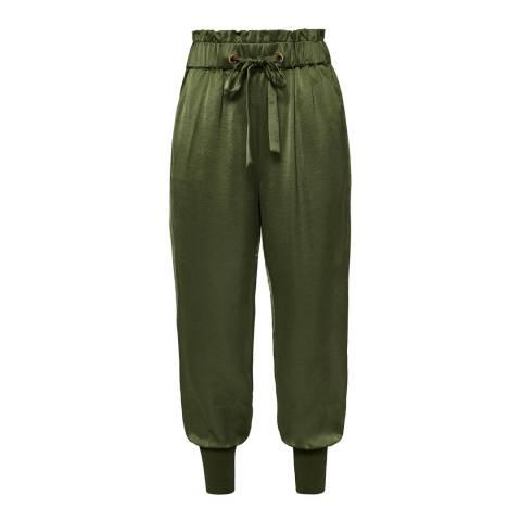 Ted Baker Khaki Nayarmi Paper Bag High Waist Trousers