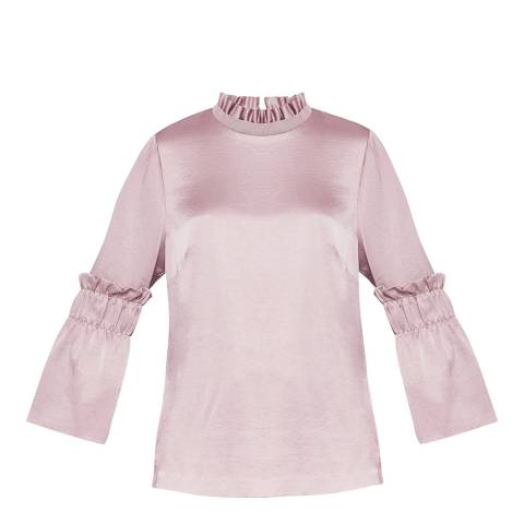 Ted Baker Dusky Pink Myani Frill Top