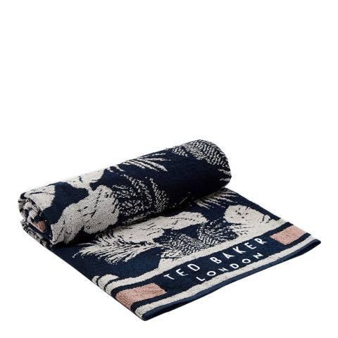 Ted Baker Navy Tropick Woven Towel