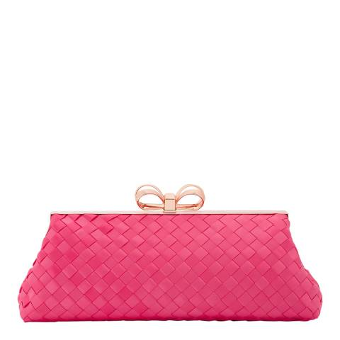 Ted Baker Mid Pink Alaina Woven Frame Evening Bag