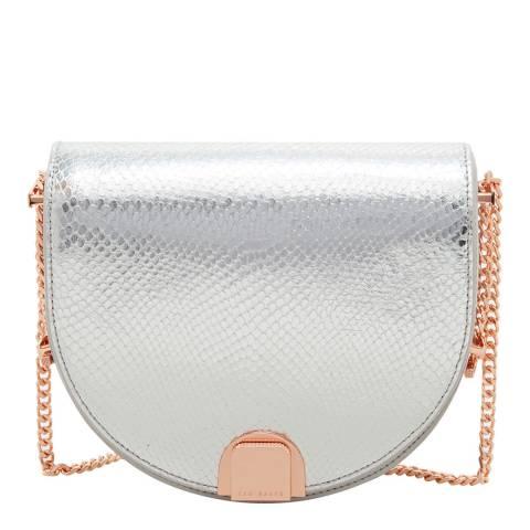 Ted Baker Light Grey Annii Mini Exotic Detail Moon Bag