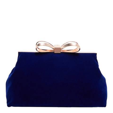 Ted Baker Mid Blue Cena Statement Bow Evening Bag