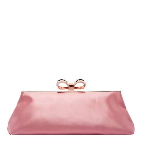 Ted Baker Dusky Pink Georgaa Pearl Bow Evening Bag