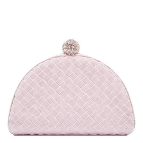 Ted Baker Dusky Pink Hallii Velvet Crystal Bobble Clutch