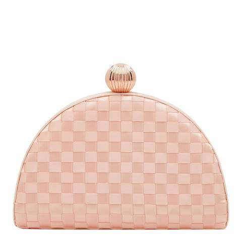 Ted Baker Pale Pink Kyla Woven Clutch Bag