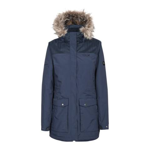 DLX Navy Garner Waterproof Parka Jacket