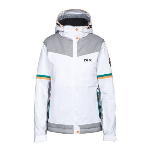DLX White Rosan Waterproof Ski Jacket