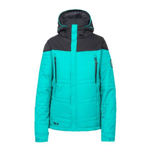 DLX Ocean Green Thandie Stretch Ski Jacket