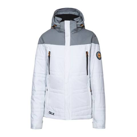 DLX White Thandie Stretch Ski Jacket