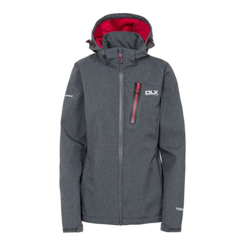DLX Dark Grey Claren Breathable Softshell Hooded Jacket