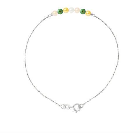 Just Pearl Multi-Coloured Seven Pearl Bracelet 3-4mm