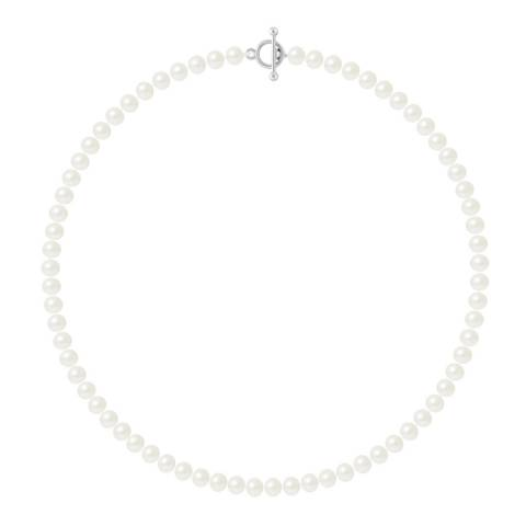Just Pearl Natural White Row Of Pearls Necklace 6-7mm
