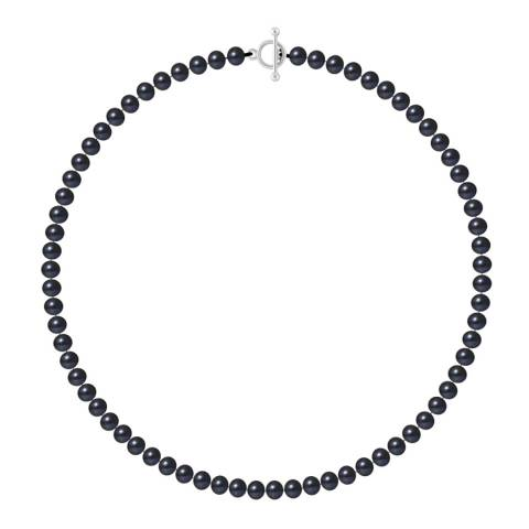 Just Pearl Tahiti Black Row Of Pearls Necklace 6-7mm