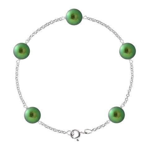 Just Pearl Malachite Green Five Pearl Prestige Bracelet 8-9mm