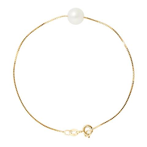 Just Pearl Natural White Pearl Bracelet 8-9mm