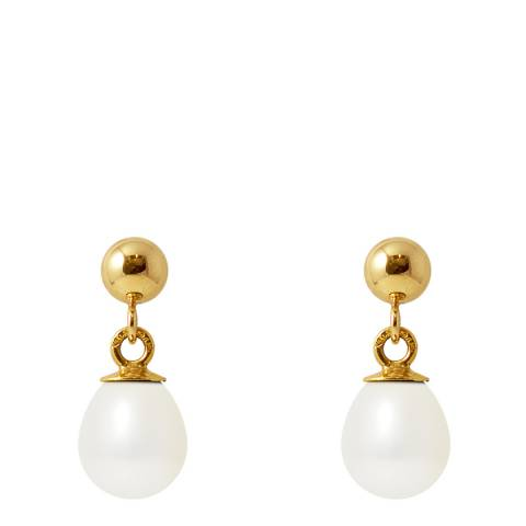 Just Pearl Natural White Pearl Earrings 6-7mm