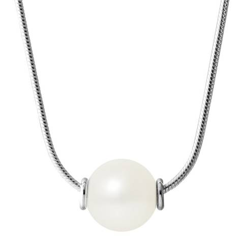 Just Pearl Natural White Pearl Necklace 10-11mm