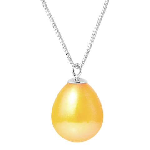 Just Pearl Golden Yellow Pearl Pendant Necklace 9-10mm