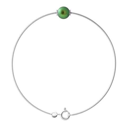 Just Pearl Malachite Green Pearl Bracelet 9-10mm